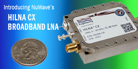 NuWaves Unveils HILNA CX Broadband Low Noise Amplifier Covering C to