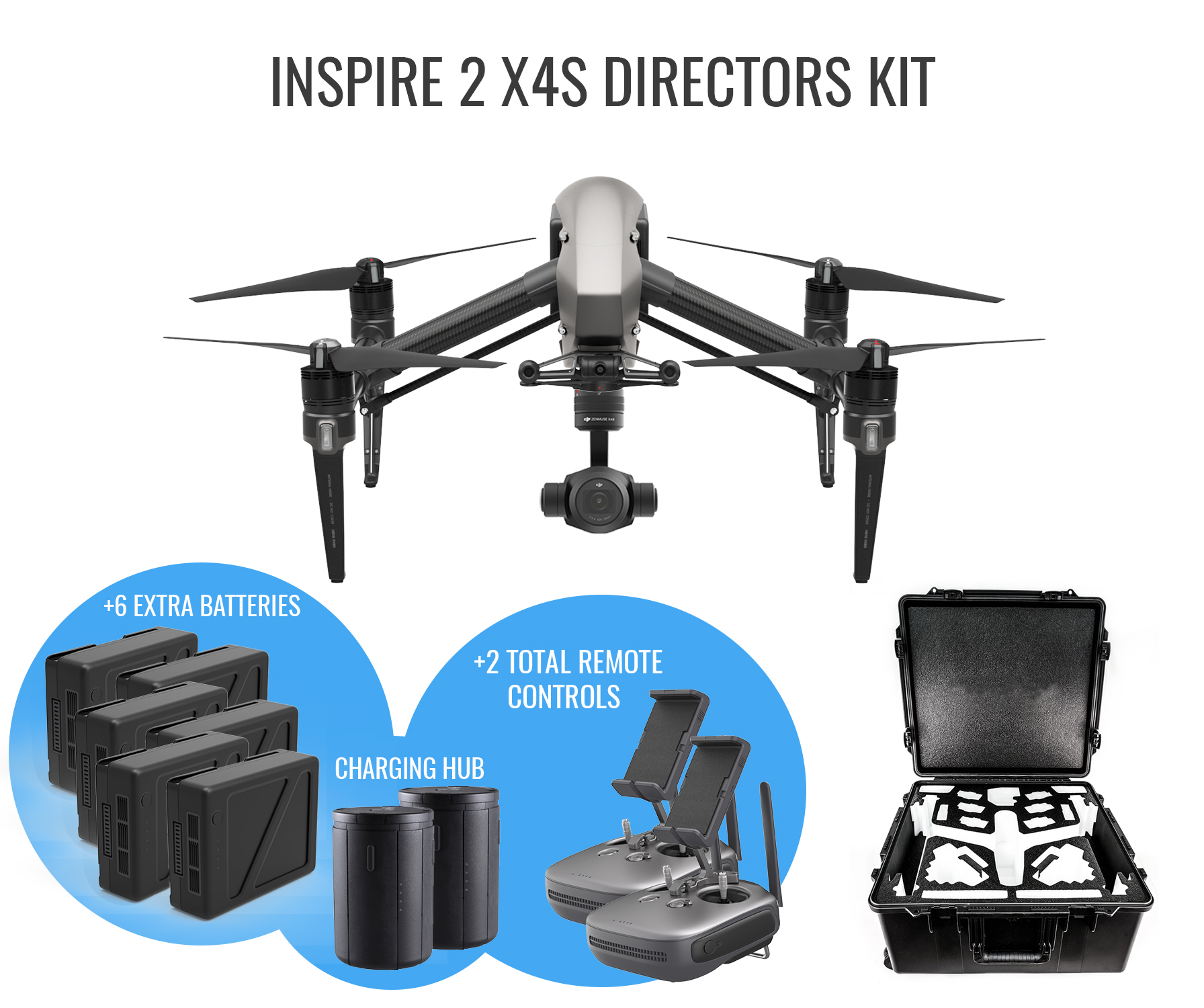 Dji Inspire 2 X4s Directors Kit Unmanned Systems Source Zenmuse